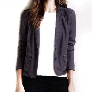 Anthropologie Hei Hei Delaine Blazer Blue Grey 14